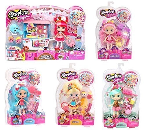 Shopkins Shoppies Bundle Set Of 5 Donatinas Donut D